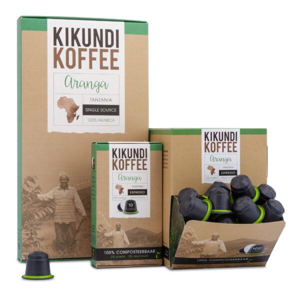 Het assortiment koffiecups van Kikundi Koffee